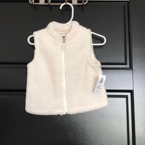 Cream Fuzzy Vest
